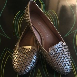 """Jeffrey Campbell """"Martini"""" spiked loafers"""